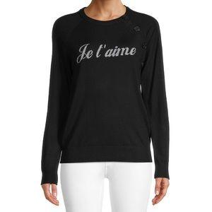 Zadig & Voltaire Reglis Je T'Aime Wool Pullover